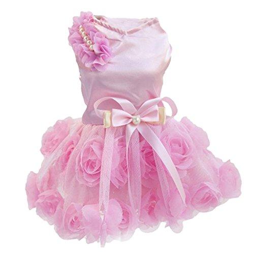 Sharplace 1x Klassische Hundekostüm, Ersatz Party Mode Kleidungen für Hundinnen Katze Welpen - Farbe Auswählen - Rosa, XS