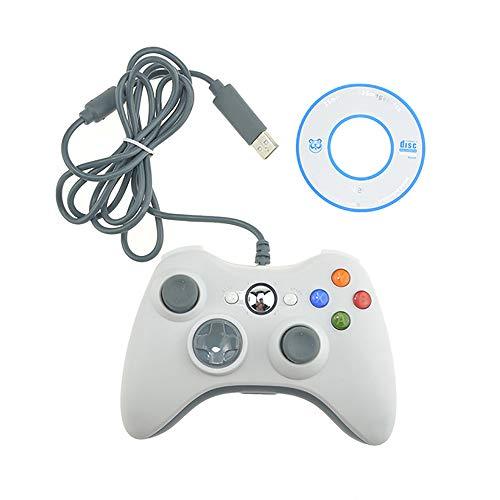 Unbekannt Gamepad USB Wired Vibration Joystick für PC Controller für Windows 7/8/10, Nicht für Xbox 360 Joypad weiß