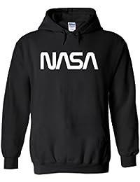 Nasa National Space Galaxy Novelty White Femme Homme Men Women Unisex Sweat à Capuche Hooded Sweatshirt Hoodie