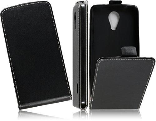 MATADOR Handytasche für Huawei Y635 Hülle FlipCase Schutzhülle Slim Design Tasche Cover Handyhülle Mit Bruchfester Innenschale (Schwarz/Black)