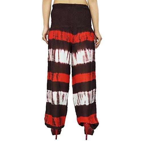 Indian Rayon Harem Ethnique Hip Hop Pantalons Baggy Boho Femmes Pantalons Multicolore