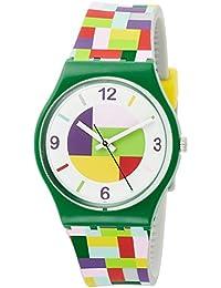 Swatch Reloj Analogico para Mujer de Cuarzo con Correa en Silicona GG224