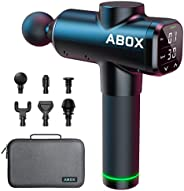 ABOX 2021 Nuova 30 Velocità Pistola Massaggio Muscolare con Funzione di Temporizzazione, 3200 RPM Massaggiator