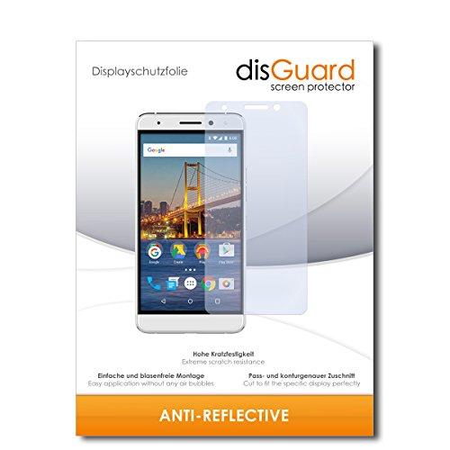 disGuard® Displayschutzfolie [Anti-Reflex] kompatibel mit General Mobile GM 5 Plus [2 Stück] Entspiegelnd, Matt, Antireflektierend, Extrem Kratzfest, Anti-Fingerabdruck - Panzerglas Folie, Schutzfolie