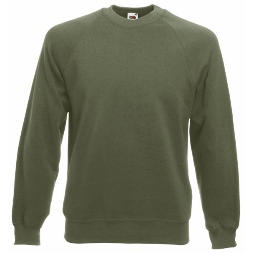 Fruit of the Loom Herren, Sweatshirt, Raglan Sweatshirt M,- Classic Olive Fruit Of The Loom Classic Sweatshirt