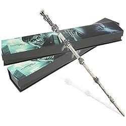 Varita mágica de Harry Potter, de resina, para disfraz, con caja, juguete, regalo, Dumbledore