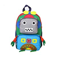 chenpaif Cartoon Robot Backpack Schoolbag Girls Children Backpack Schoolbag Backpack Red