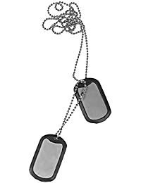 Military Army Dog Tag Necklace Fancy Dress Party Stag Nights with Rubber Silencers