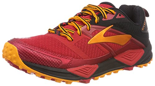 Brooks Cascadia 12, Zapatillas de Running Para Asfalto Para Hombre, Rojo (Red/Black/Orange 1d663), 43 EU