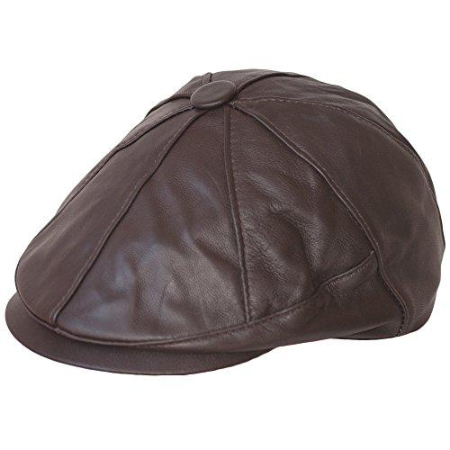 Dazoriginal Ballonmütze Baskenmütze Flat Cap Leder Schirmmütze Schiebermütze Hut MEHRWEG -