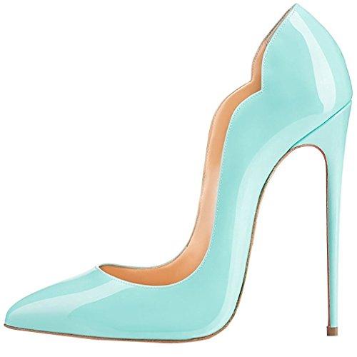 uBeauty Escarpins Femmes Chaussures Stiletto Soles Rouge Talon Aiguille Grande Taille Laçage Vert