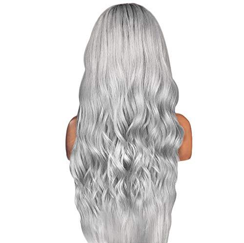 Perruque Sexy de Dégradé de Partie Noire Longue Perruque Synthétique de Couleurs Mélangées de Cheveux Bouclés