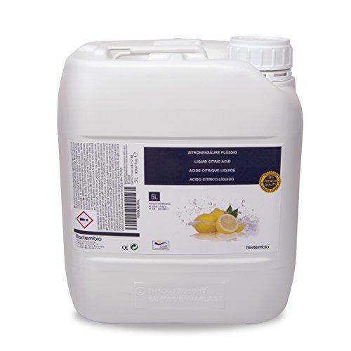 Zitronensäure 5 l, reine Premiumqualität, flüssiges Konzentrat für ökologische Produktion. NortemBio. CE – Produkt