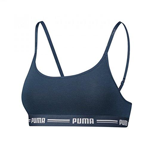 (Puma Damen Iconic Casual Bralette Bra 1P E-COM Unterwäsche, Dark Denim, M)