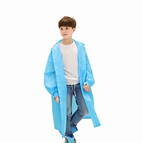 Preisvergleich Produktbild Jzmai Regenjacke Regenjacke Poncho Studententasche Regenjacke Verdicken Kinder Regenjacke Eva Regenjacke Kann Wiederverwendet Werden (Farbe : Blau,  größe : XL)