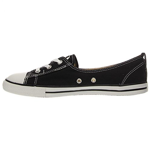 Converse Womens CT Ballet Lace Canvas Trainers Black White