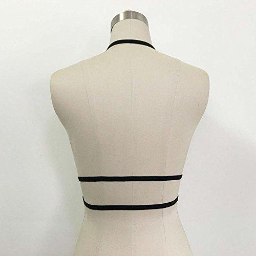 Add Health Damen Pentagramm Harness Strappy Geschirr Pentagramm Knechtschaft BH 102 Black