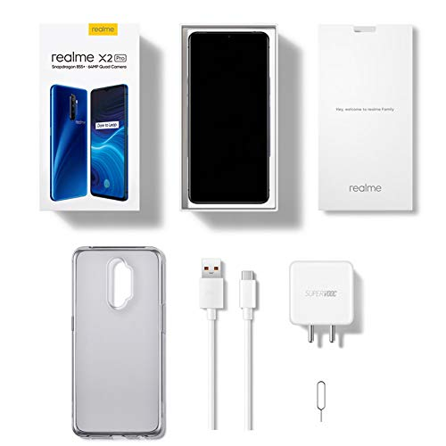 "realme X2 Pro smartphones Mobiles, 6,5 ""8 GB 128 GB Snapdragon 855 Plus Octa-Core, Quad Camera 64 MP + 16 MP, Dual Sim phone, European Version (Blue)"