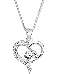 Elli Damen-Kette mit Anhänger Herz 925 Sterling Silber Swarovski Kristall 0106860914_45