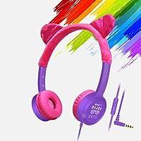 melysEU Auriculares para niños,Auriculares estéreo de Alta fidelidad con Cable,Plegables Auriculares sin