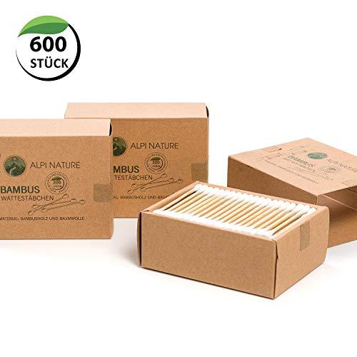 Bastoncillos de bambú para las orejas 600 piezas