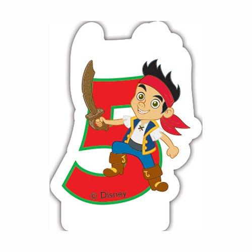 Disney Yo Ho Jake und die nie Land Piraten 5. Geburtstag Kerze