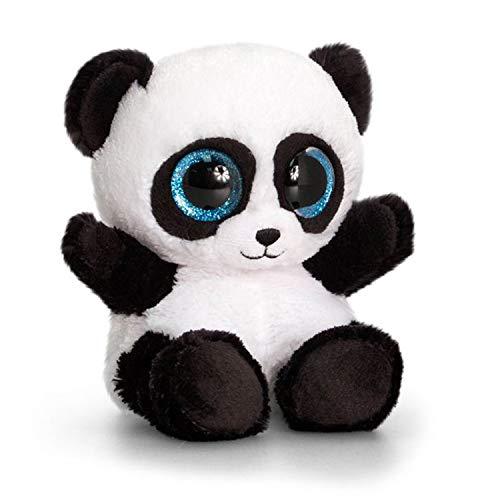 Keel Toys- KEELTOYS-Peluche Animotsu Panda 15 cm-SF0451, SF0451, Noir, Blanc