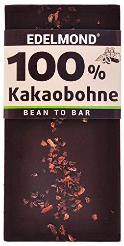 Edelmond 100% geröstete Edel Kakaobohnen. Nur eine Zutat. Kein Zusatz von Kakaomasse. Extrem Bitter, da ohne Zucker. (Kakao Reine)