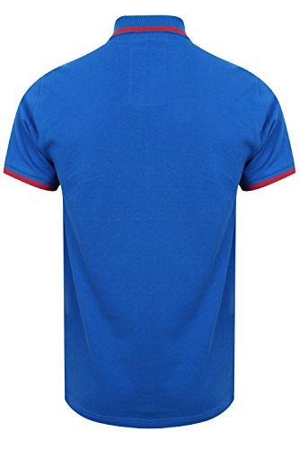 Tokyo Laundry Herren Blusen Poloshirt, Einfarbig weiß weiß Small Ocean - Blue