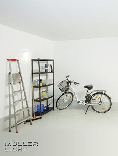 MÜLLER-LICHT LED Feuchtraumleuchte Bulkhead, IP54, Rund, Plastik, 8 W, Weiß, 17.6 x 17.6 x 5.6 cm - 4