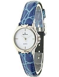 """BLUMAR 09469 - Reloj analógico de mujer antialérgico """"Delfines"""". Correa de piel azul (23 mm)"""