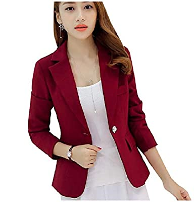 WQ&EnergyWomen Womens Work Office Fall Winter Formal Notch Collar Blazer Coats