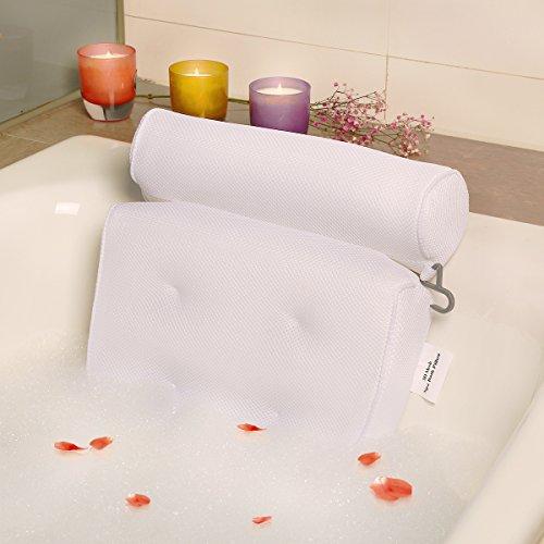 Badewannenkissen Badekissen, Kissen Entspannende Badewanne oder Family Spa, Komfortabel und Schnell Trocknend Mousse Kissen - Weiß