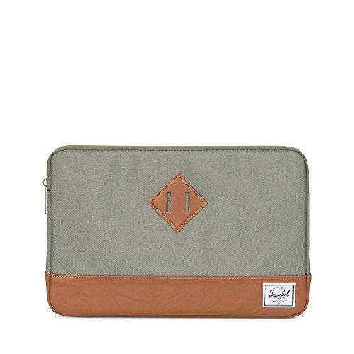 Preisvergleich Produktbild Herschel Heritage Sleeve for inch Macbook Deep Lichen Green/Tan Synthetic Leather