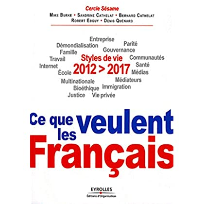 2012-2017 : ce que veulent les Français: Styles de vie. Entreprise, démondialisation, parité, famille, gouvernance, travail, communautés, internet, santé, école, médias, multinationale, médiateurs...