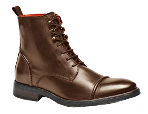 Bottines montantes classic en cuir model Bernie par HGilliane Design Eu 33 au 44 Marron choco