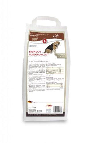 SALiNGO Hundefutter trocken, Rind Light für übergewichtige Hunde (2kg)