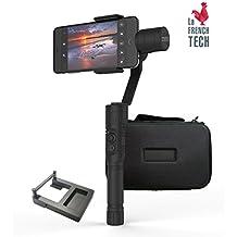 QANTIK STRATOS - Stabilisateur 2 en 1 tout aluminium 3 axes pour Smartphone iPhone Samsung Sony LG et Action-cam Qantik GoPro Yi