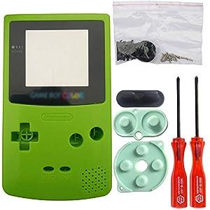 iMinker Volle Gehäuse-Shell-Paket-Fall-Abdeckung Ersatzteile mit geöffneten Werkzeugen für Nintendo Gameboy Color, GBC