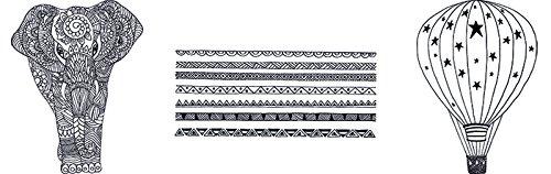 Securit Kinder Deko Motto Fenster Schablonen inkl. Kreide Marker, Weiß, A3Größe, Set von 3