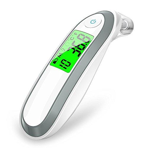 WOVELOT Termometro digitale a infrarossi per orecchio e fronte per bambini e adulti Fahrenheit e Celsius convertibili