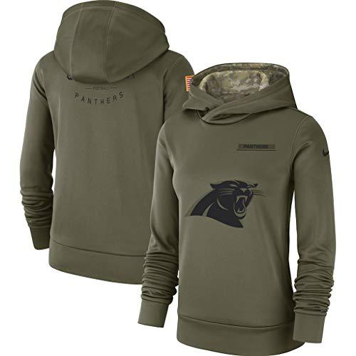 Carolina Pullover (YUNMO Pullover Langarm T-Shirt Carolina Panthers Laufen Fußballtraining Fitness-Kleidung L)