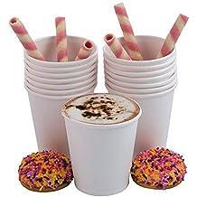 100 tazas de papel desechables para café y bebidas calientes, ...