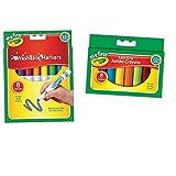 My First Crayola facile à saisir Jumbo Crayons + Grosse lavable marqueurs Lot   respectueux de l'enfant pour les petites mains