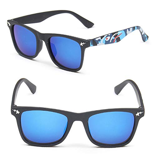 Zbertx Gafas de Sol para niños de Girls Boy para niños Gafas de Sol Uv400 Gafas Retro,C2