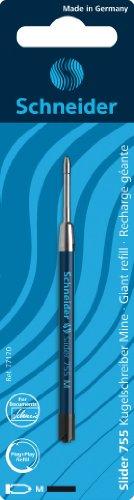 Schneider Slider 755 M - Confezione di 2 refill per penna a sfera, nero