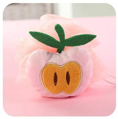 J-UEK Baumwolle Baby Badebürste Cartoon Weichen Schwamm Puderquaste Nette Kinder Infant Dusche Produkt Reiben Handtuch Bälle Pink -