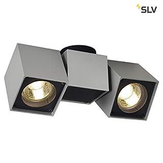 SLV Altra DICE SPOT 2 Ceiling Light, Silvergrey/Black, 2xGU10, max. 2X 50W, Aluminium