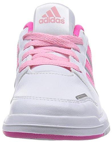 adidas Performance LK Trainer 6 Unisex-Kinder Hallenschuhe Weiß (Ftwr White/Solar Pink/Light Pink)