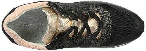 Geox D Shahira A, Baskets Basses Femme Noir (C9999)